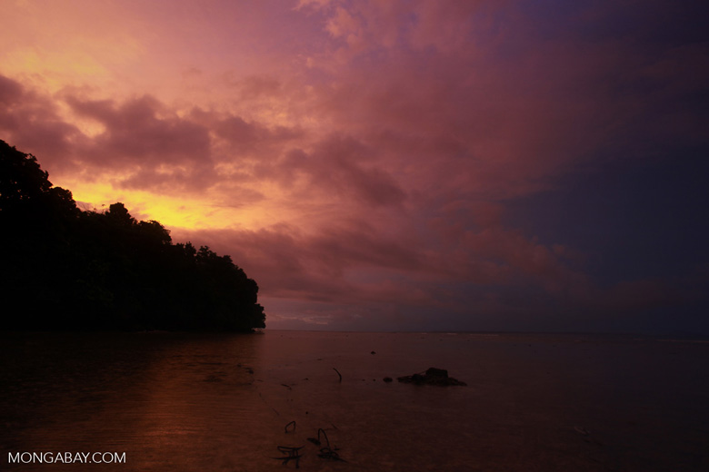 Dusk on an Indonesian island