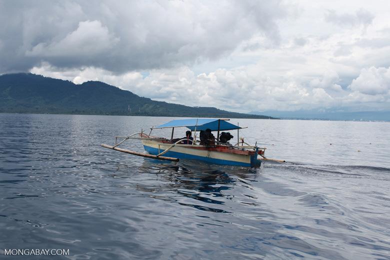 Fishing boat near Bunaken