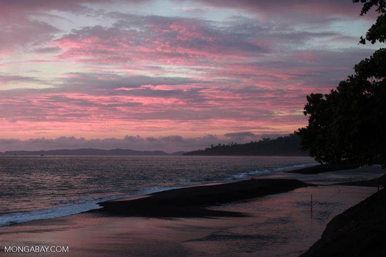Sulawesi beach at dawn