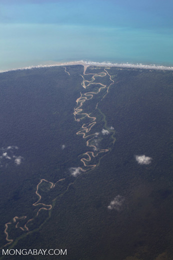 Undulating river in West Papua