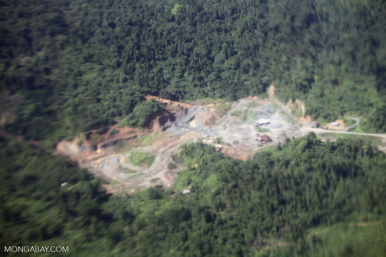 Mining site in New Guinea