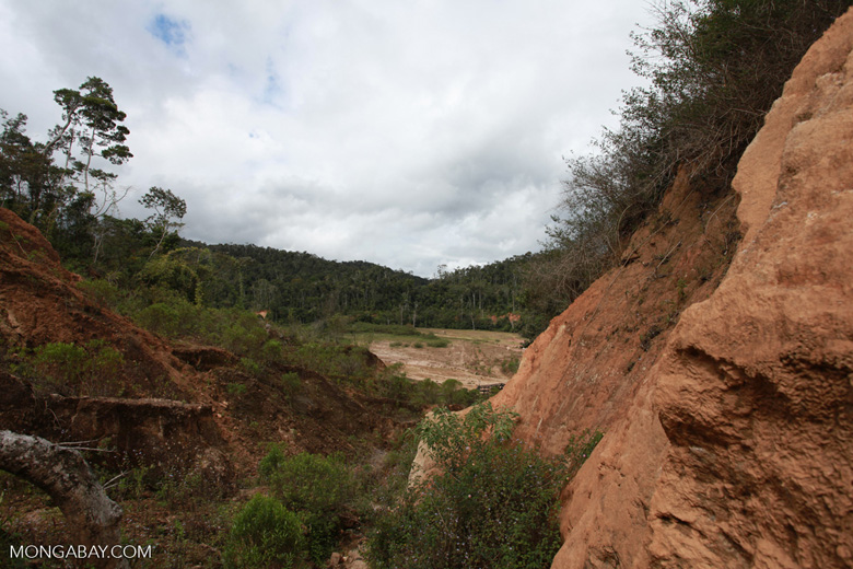 Damage from a graphite mine near Mantandia [madagascar_1105]