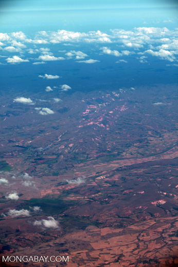 Airplane view of deforestation and erosion in Madagasar [madagascar_1715]