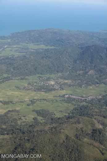 Aerial view of a town near Maroantsetra in Madagasar [madagascar_1779]