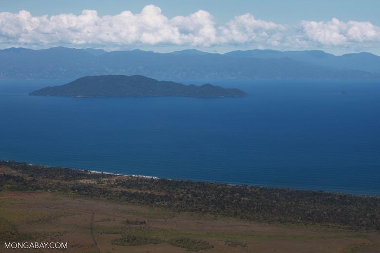 Aerial view of Nosy Mangabe and the Bay of Antongil [madagascar_1790]
