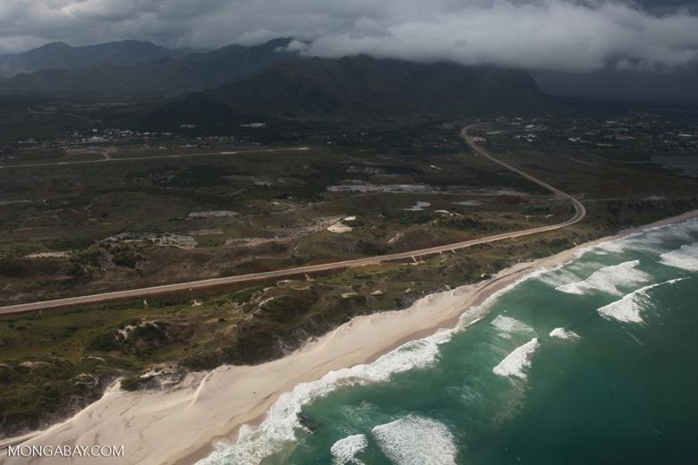 Aerial view of a beach near Ft. Dauphin [madagascar_3150]