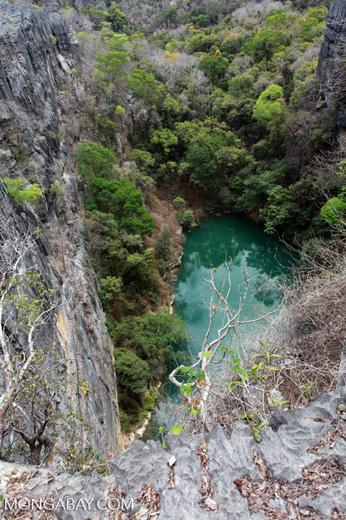 Lac Vert ('Green Lake') in Ankarana [madagascar_4311]