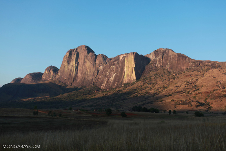 Tsaranoro Mountain, an 800m granite rock face