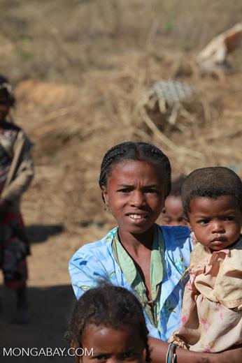 Girl in a Tsaranoro Valley village