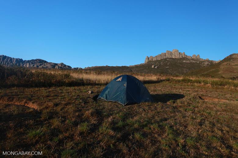 Camping in the Antanifotsy Valley