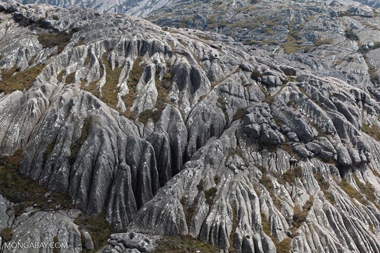 Grooved granite atop Andringitra's Chaine de Montagne Ampiadrianombilahy