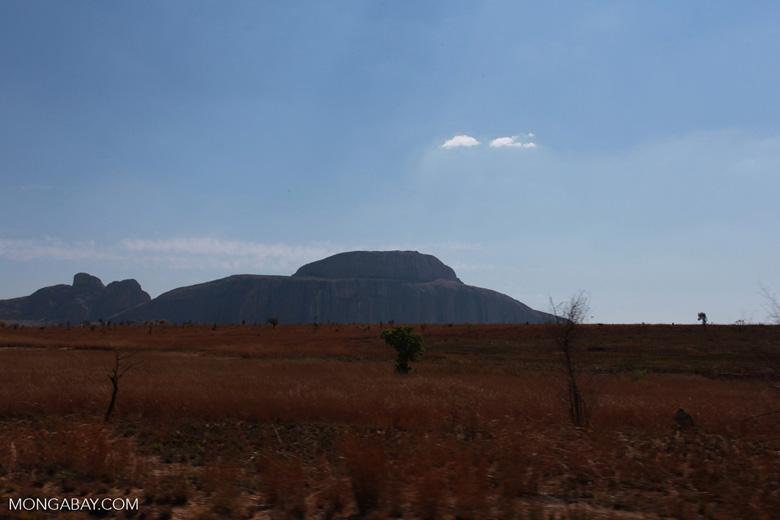 Rock formation Bonnet de L'Evêque seen in the distance [madagascar_6852]