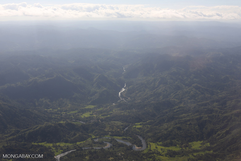 Overhead view of deforestation in Madagascar
