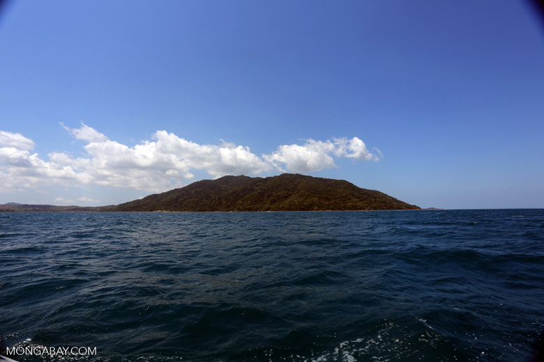 Lokobe Reserve as seen from the ocean