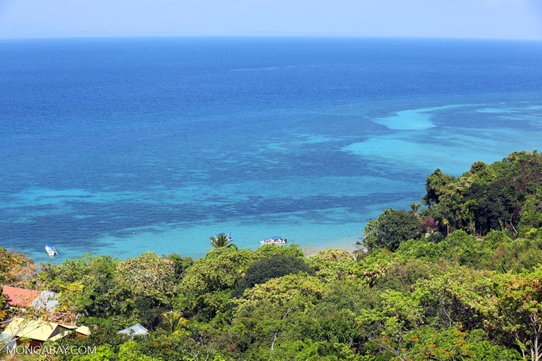 Reef and coast off Nosy Komba