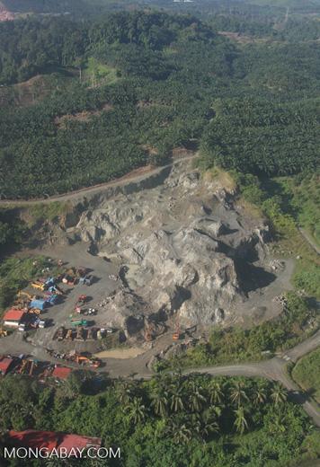 Mining among oil palm plantations -- borneo_2874