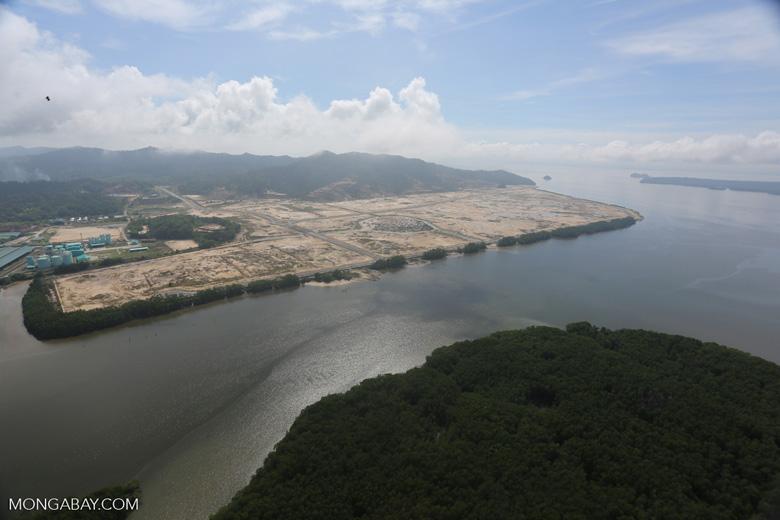 Port project in Borneo