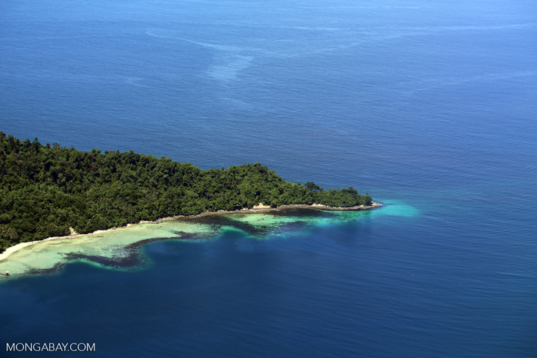 Beaches, coral reefs, and rainforests off Borneo -- sabah_aerial_0109