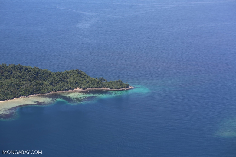 Beaches, coral reefs, and rainforests off Borneo -- sabah_aerial_0111