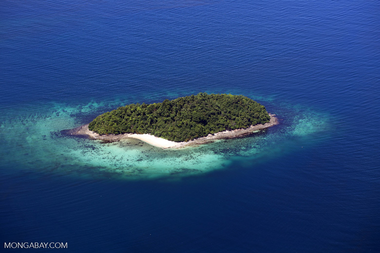 Tropical island off Borneo