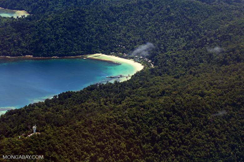 Remote tropical beach in Borneo -- sabah_aerial_0128