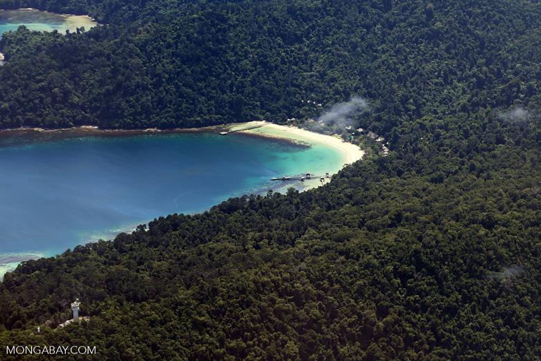 Remote tropical beach in Borneo