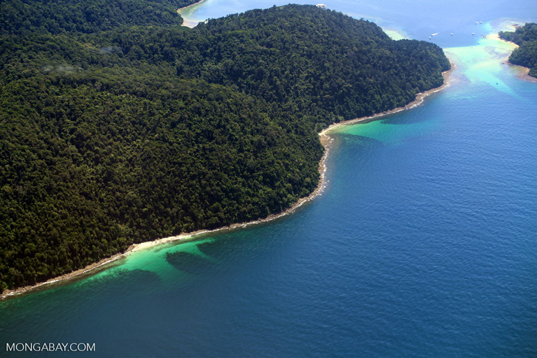 Remote tropical beach in Borneo -- sabah_aerial_0133