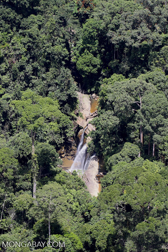Remote waterfall in Borneo -- sabah_aerial_0803