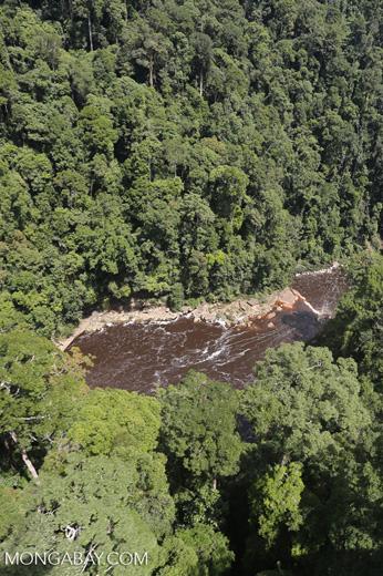 River below Maliau Falls -- sabah_aerial_1359