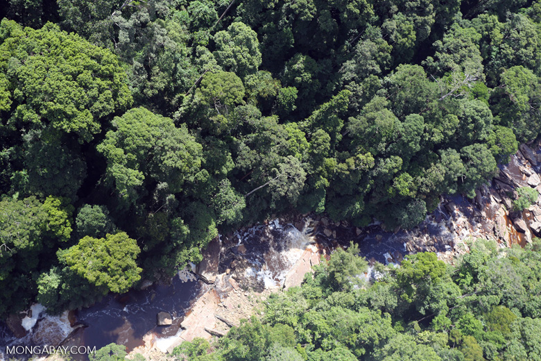 River below Maliau Falls -- sabah_aerial_1426