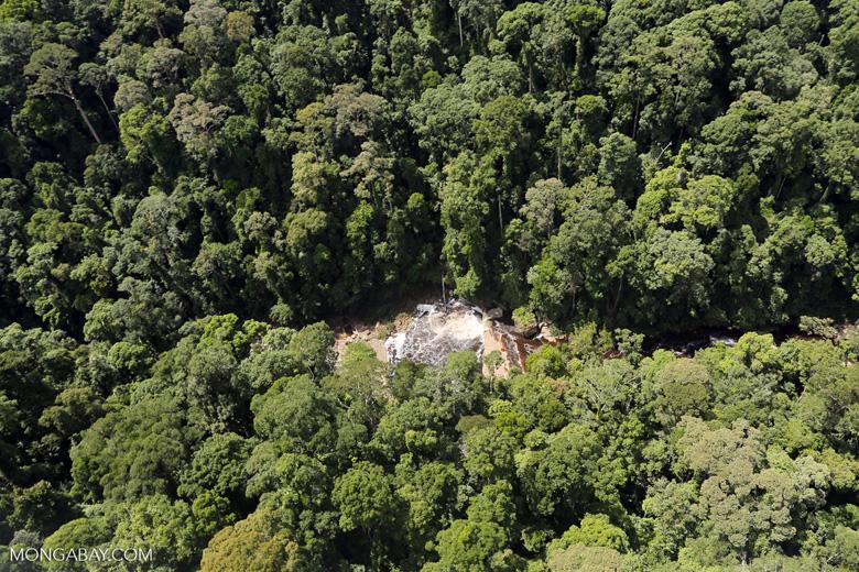 Rainforest river in Borneo -- sabah_aerial_1471