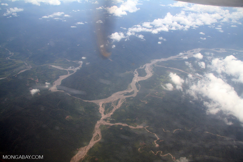 Deforestation for agriculture  in the Peruvian Amazon rainforest