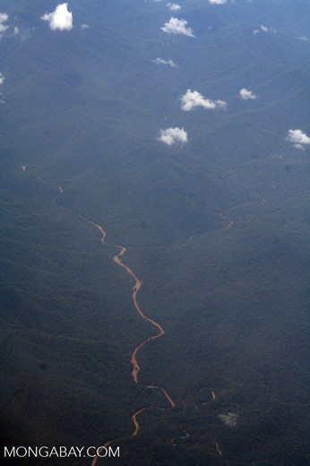 River in the Andean foothills