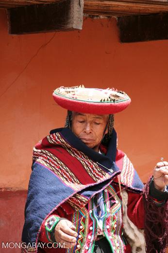 Elderly Quencha woman