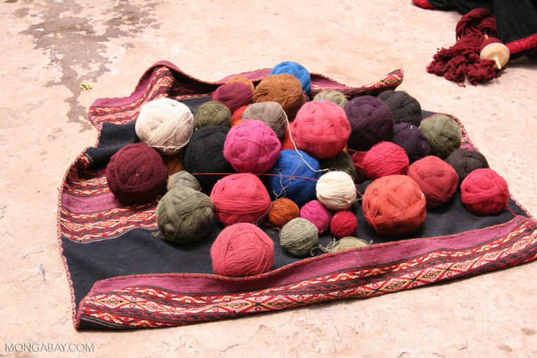 Balls of Alpaca yarn