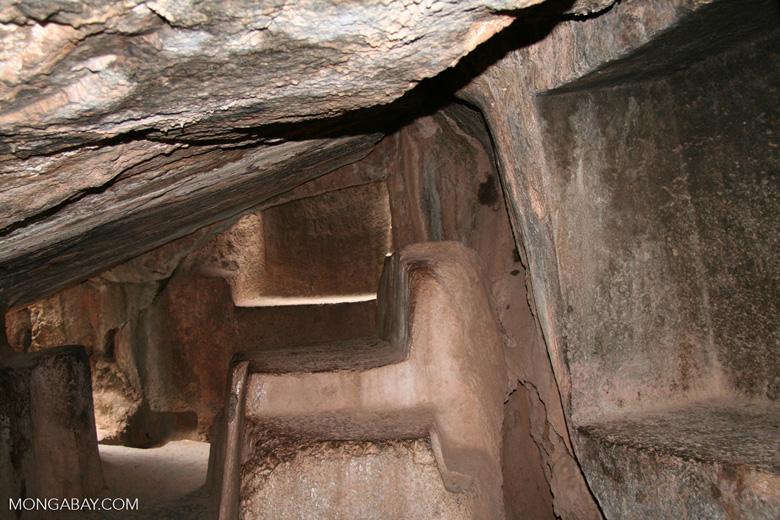 Altar under Kenko amphitheater near Cuzco