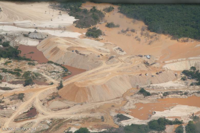 Open pit mine in the Amazon rainforest
