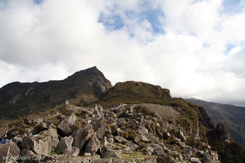 Mountain known as Machu Picchu
