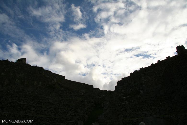 Machu Picchu silhouette