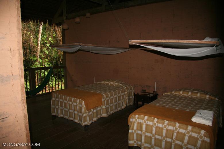 Guest room at Posada Amazonas lodge