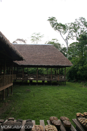 Guest room at the Tambopata Research Center lodge