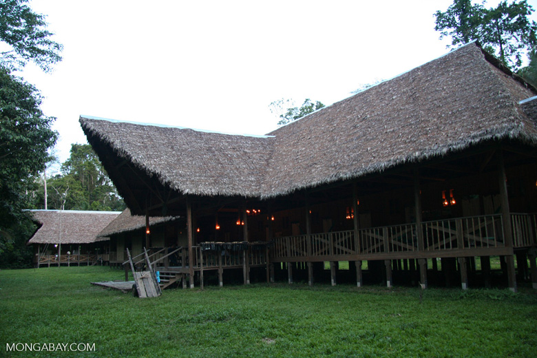 Lodge at the Tambopata Research Center