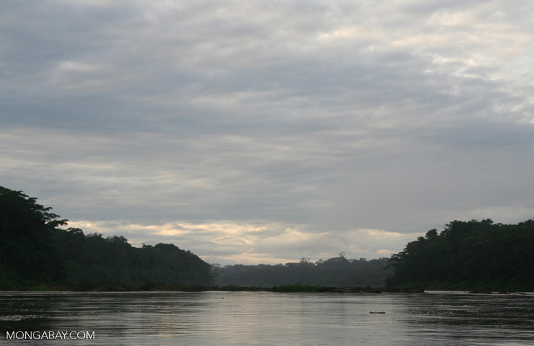 Clouds over the Rio Tambopata