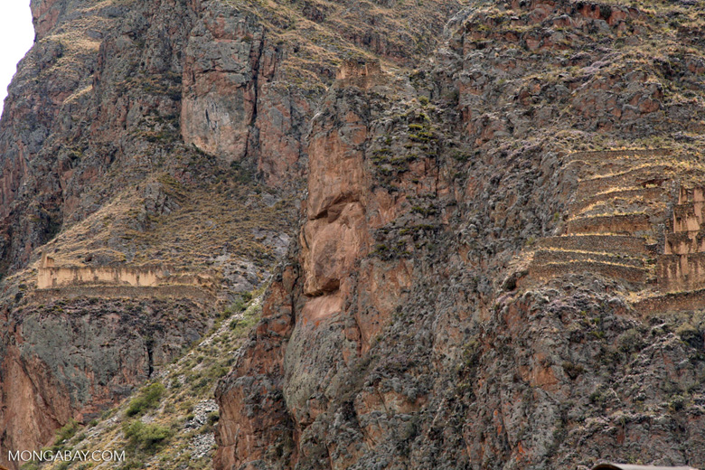 Face formation at Ollantaytambo