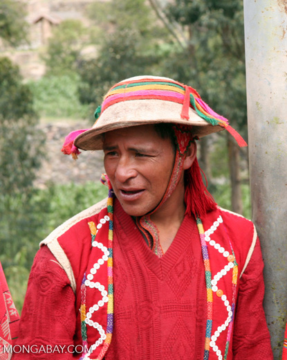 Willoq man in Ollantaytambo in the Sacred Valley