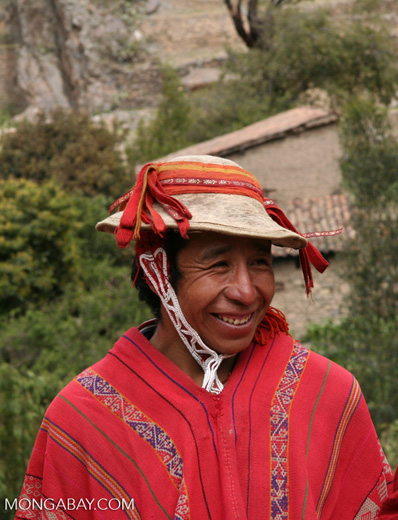 Willoq man in Ollantaytambo in the Sacred Valley of the Urubamba