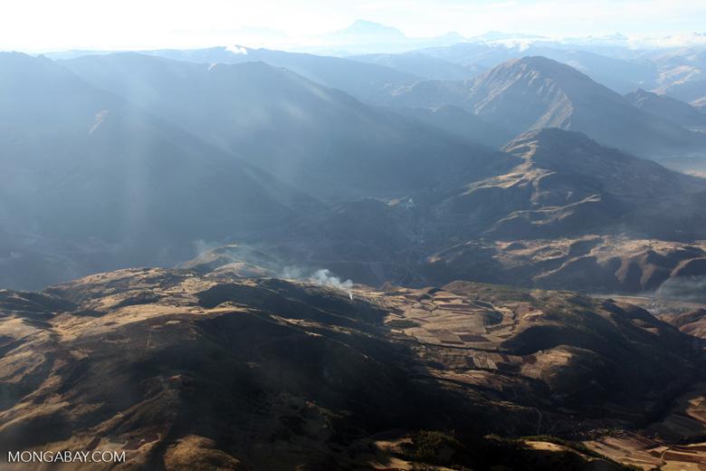 Agricultural fire near Cuzco