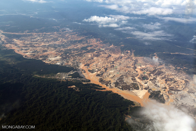Gold mining in the Peruvian Amazon. Photo by Rhett A. Butler.