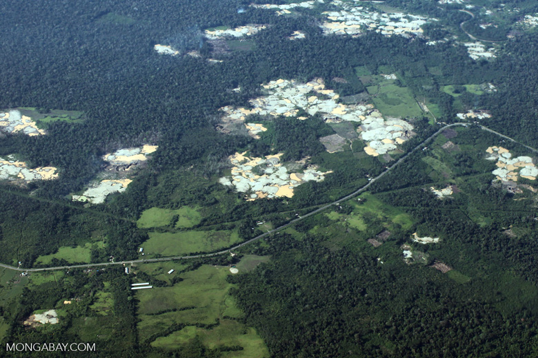 Mosaic deforestation near the Transoceanic highway [peru_aerial_0208]