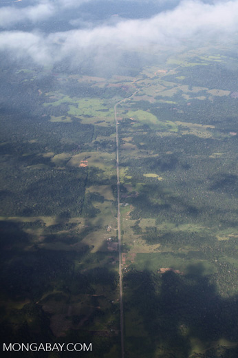 Aerial view of the Transoceanic highway